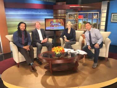 Jason and Mike with the KMTV Morning Blend crew.