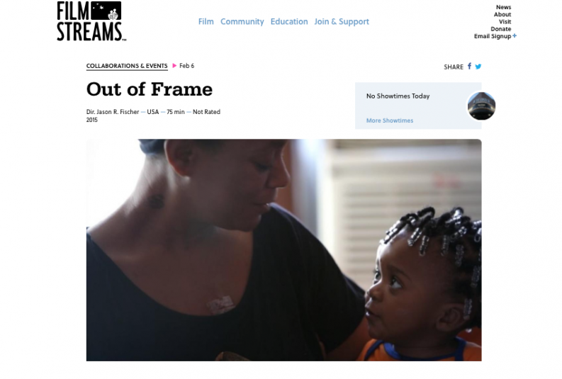 Film Streams Collabo, Out of Frame Documentary